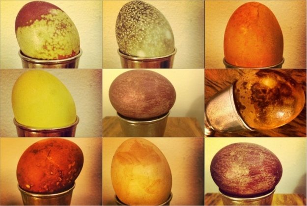 naturally dyed easter eggs 1